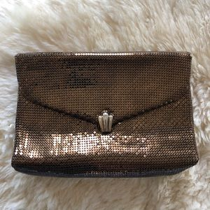Vintage Whiting & Davis Bronze clutch